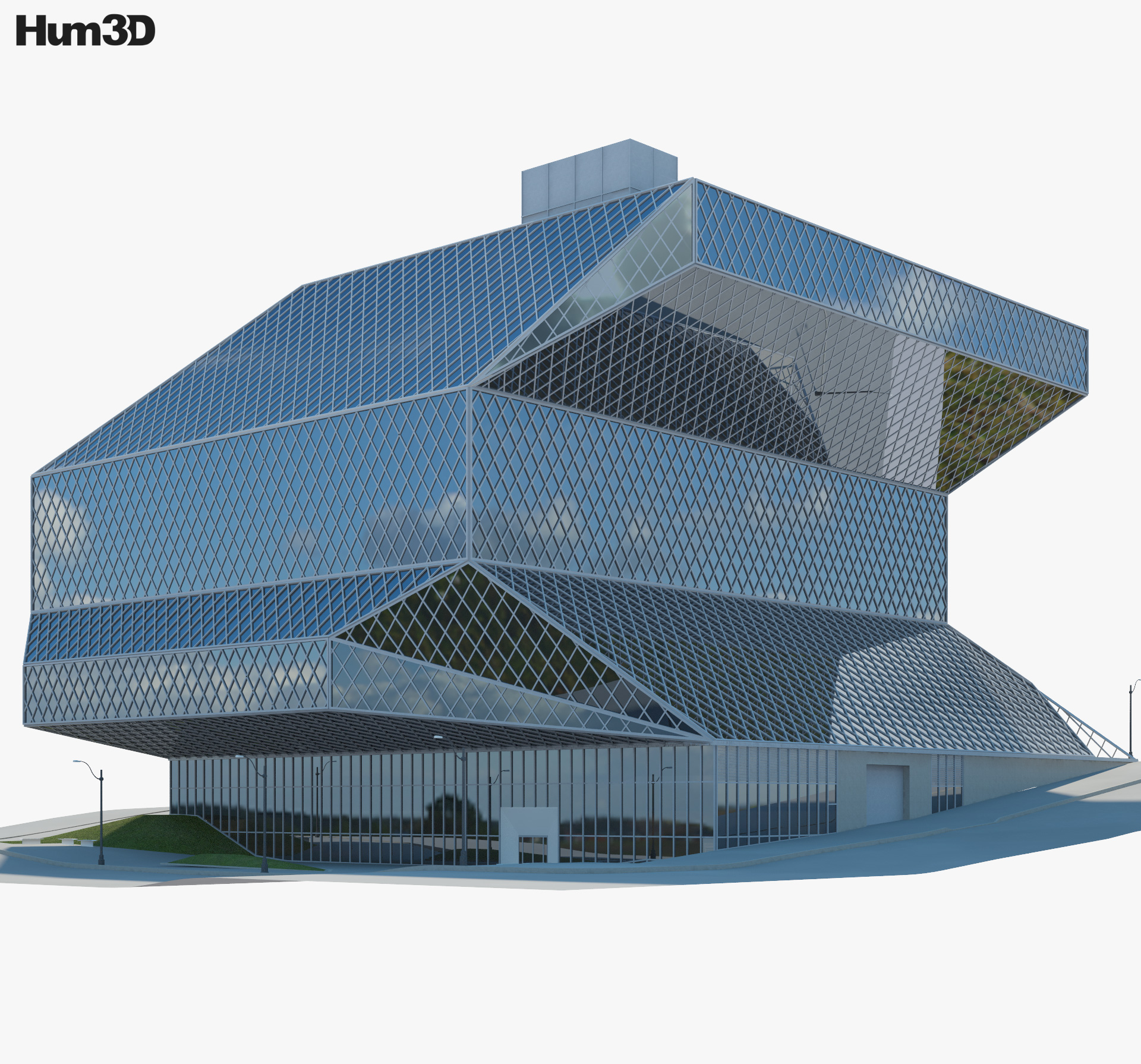 Seattle Central Library 3d model