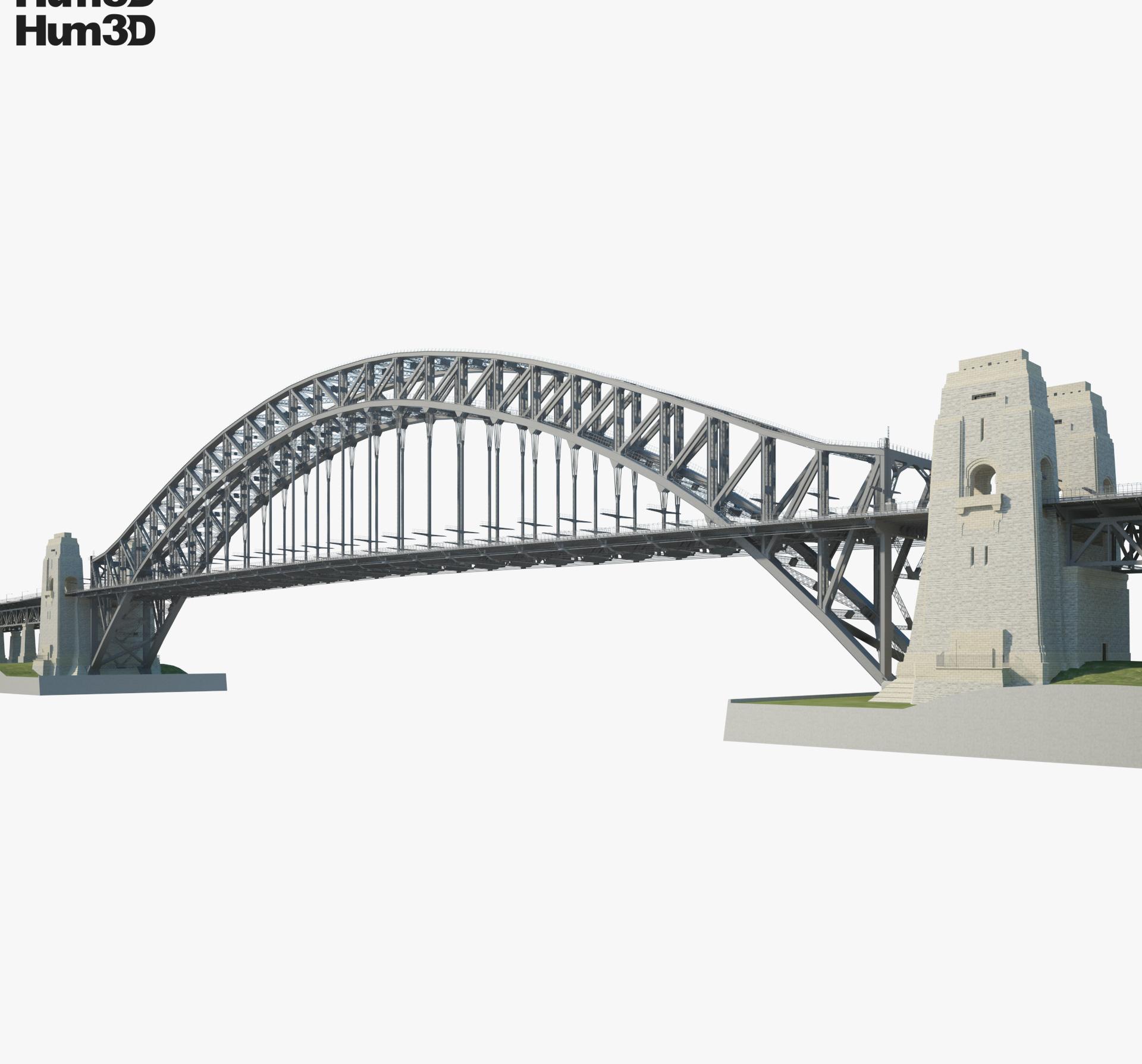 Sydney Harbour Bridge 3d model