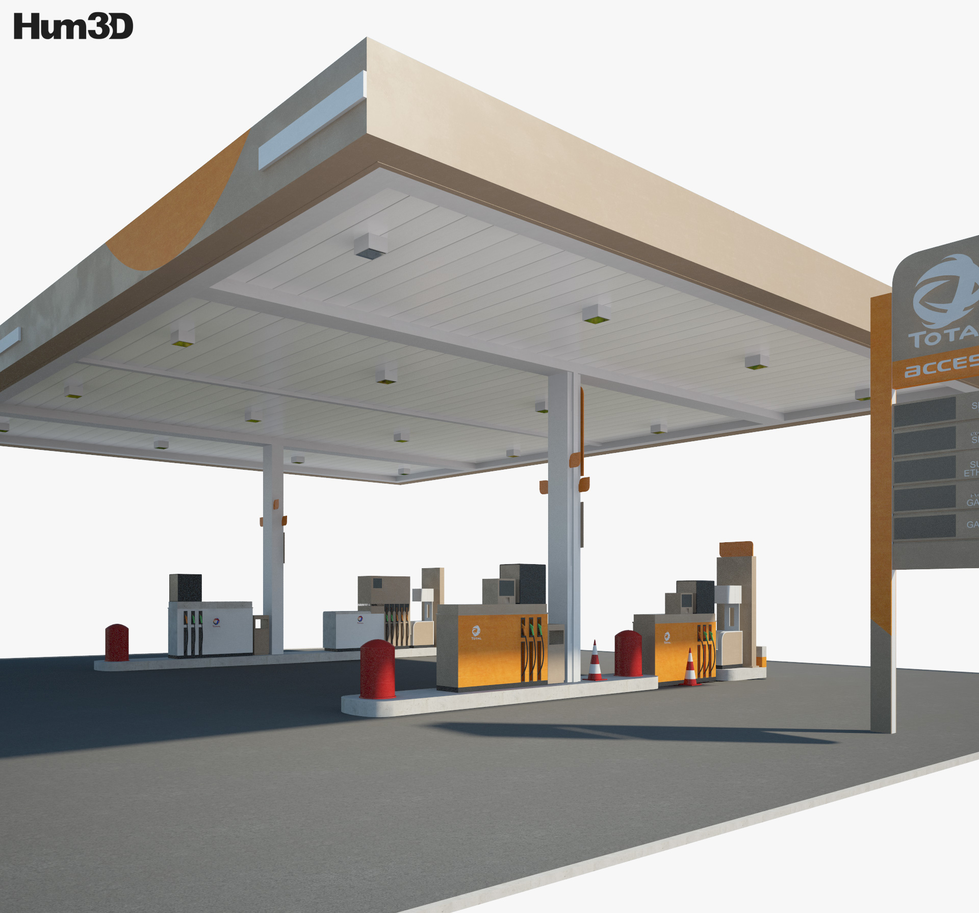 Total Access gas station 001 3d model