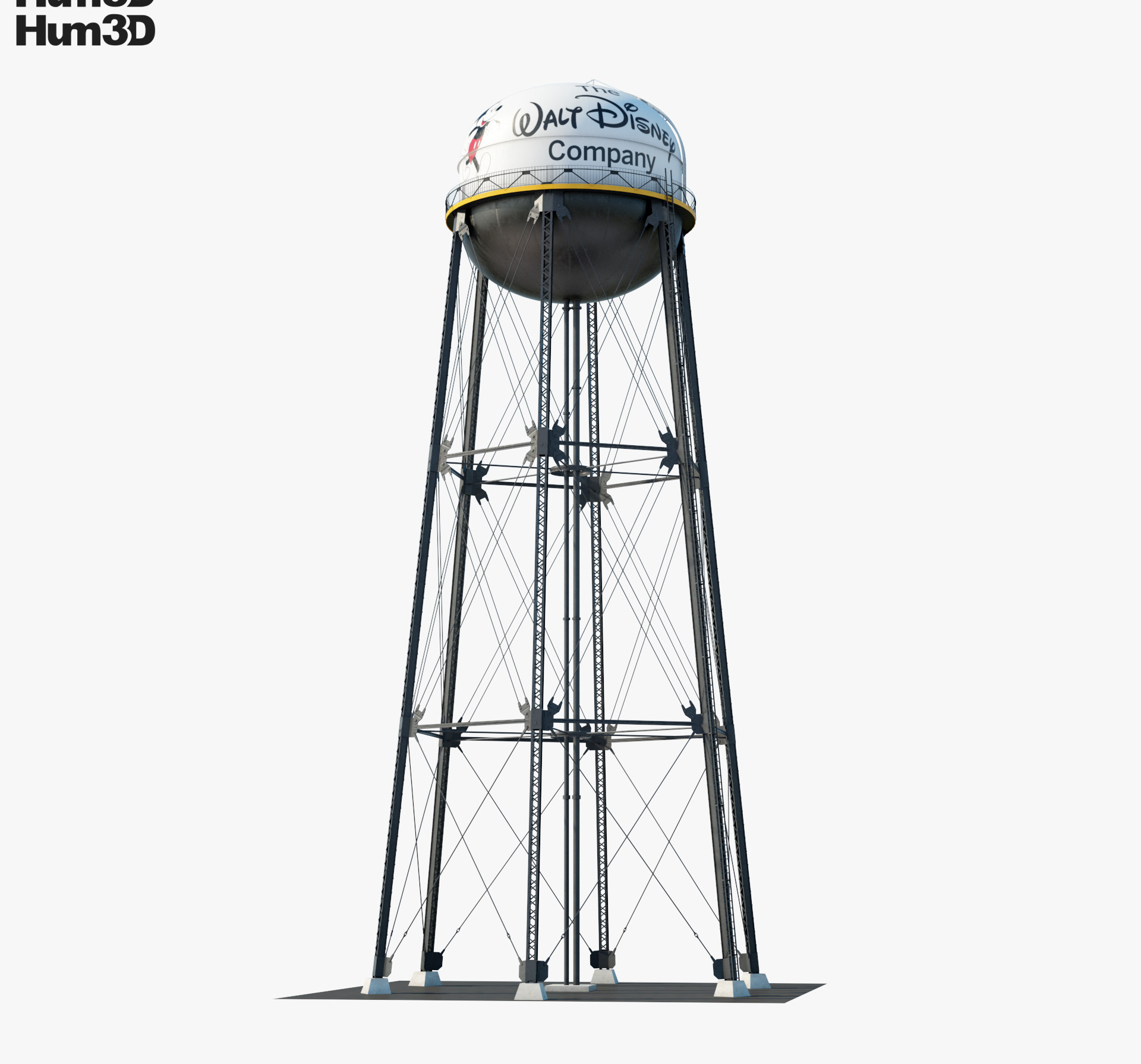 Walt Disney Studios Water Tower 3d model