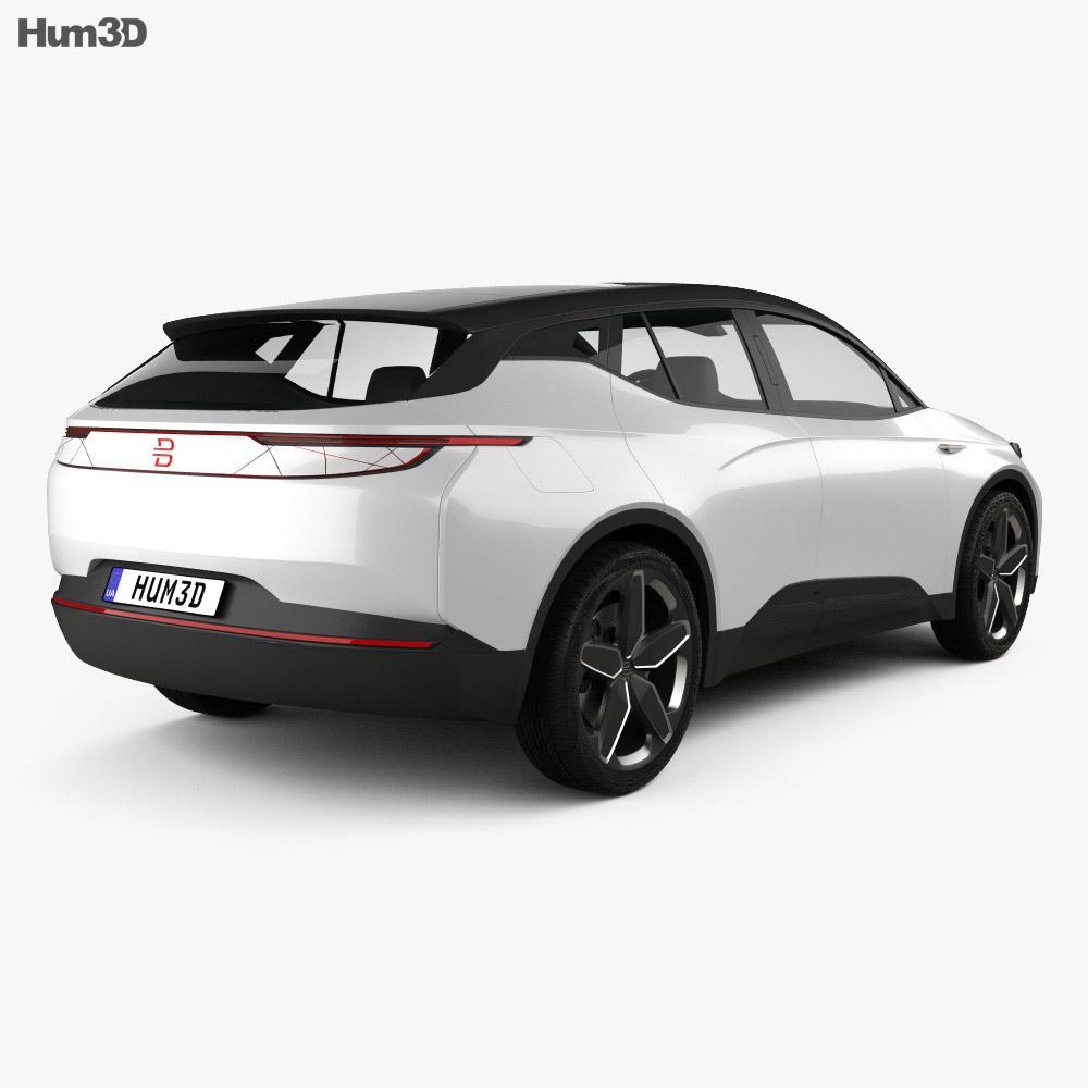 Byton Electric SUV 2018 3d model