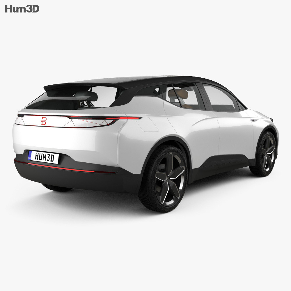 Byton Electric SUV with HQ interior 2018 3d model