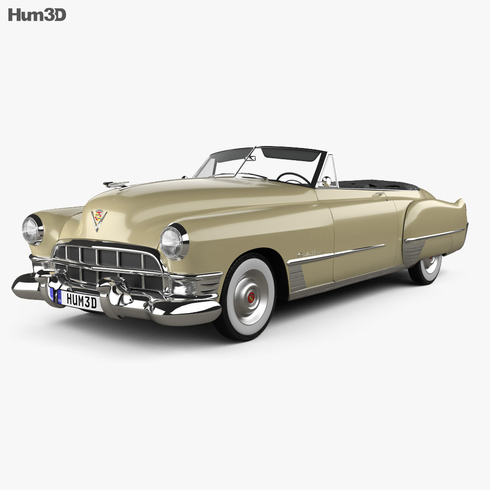 Cadillac 62 convertible 1949 3d model
