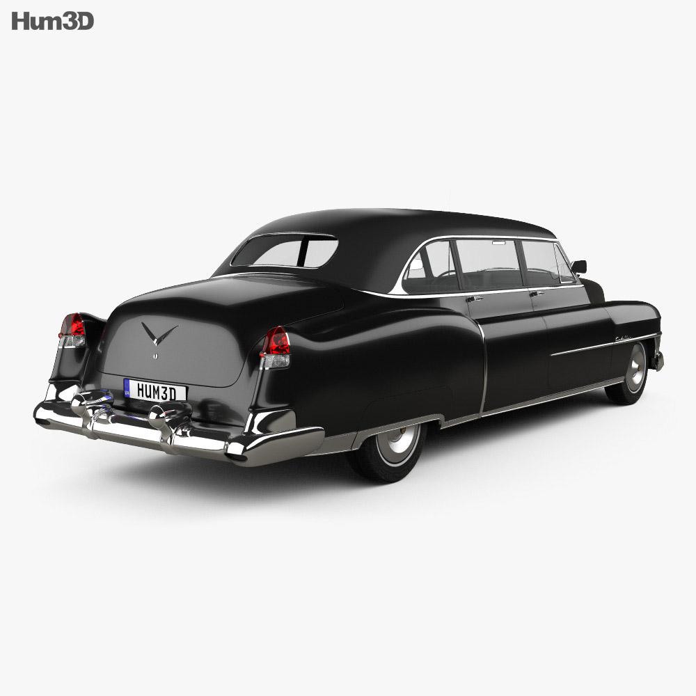 Cadillac 75 sedan 1953 3d model