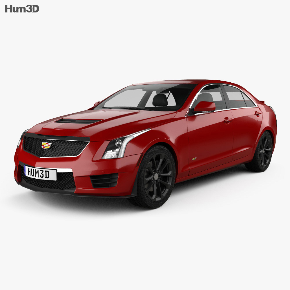 cadillac ats v sedan 2017 3d model hum3d. Black Bedroom Furniture Sets. Home Design Ideas