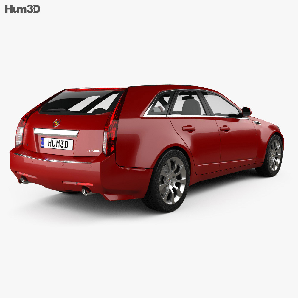 Cadillac CTS sport wagon 2009 3d model