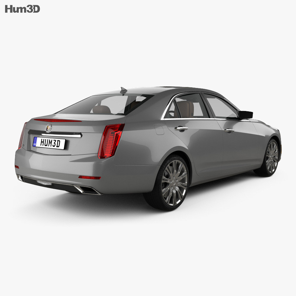 Cadillac CTS with HQ interior 2014 3d model back view