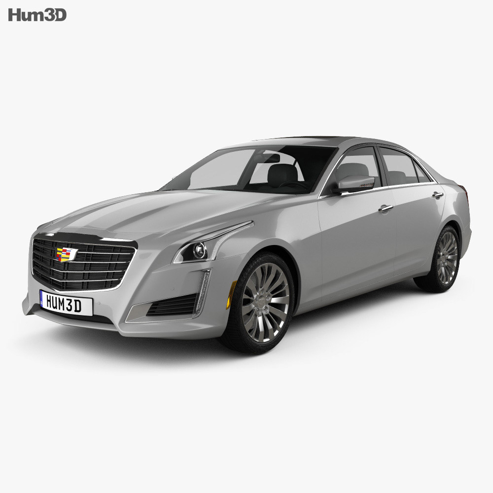 2014 Cars Cadillac Cts Use: Cadillac CTS Premium Luxury 2017 3D Model