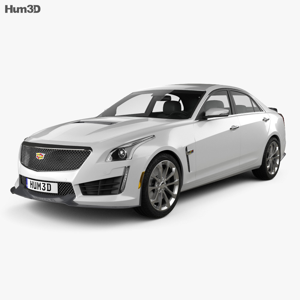 Cadillac Cts V Coupe 2016: Cadillac CTS V 2016 3D Model