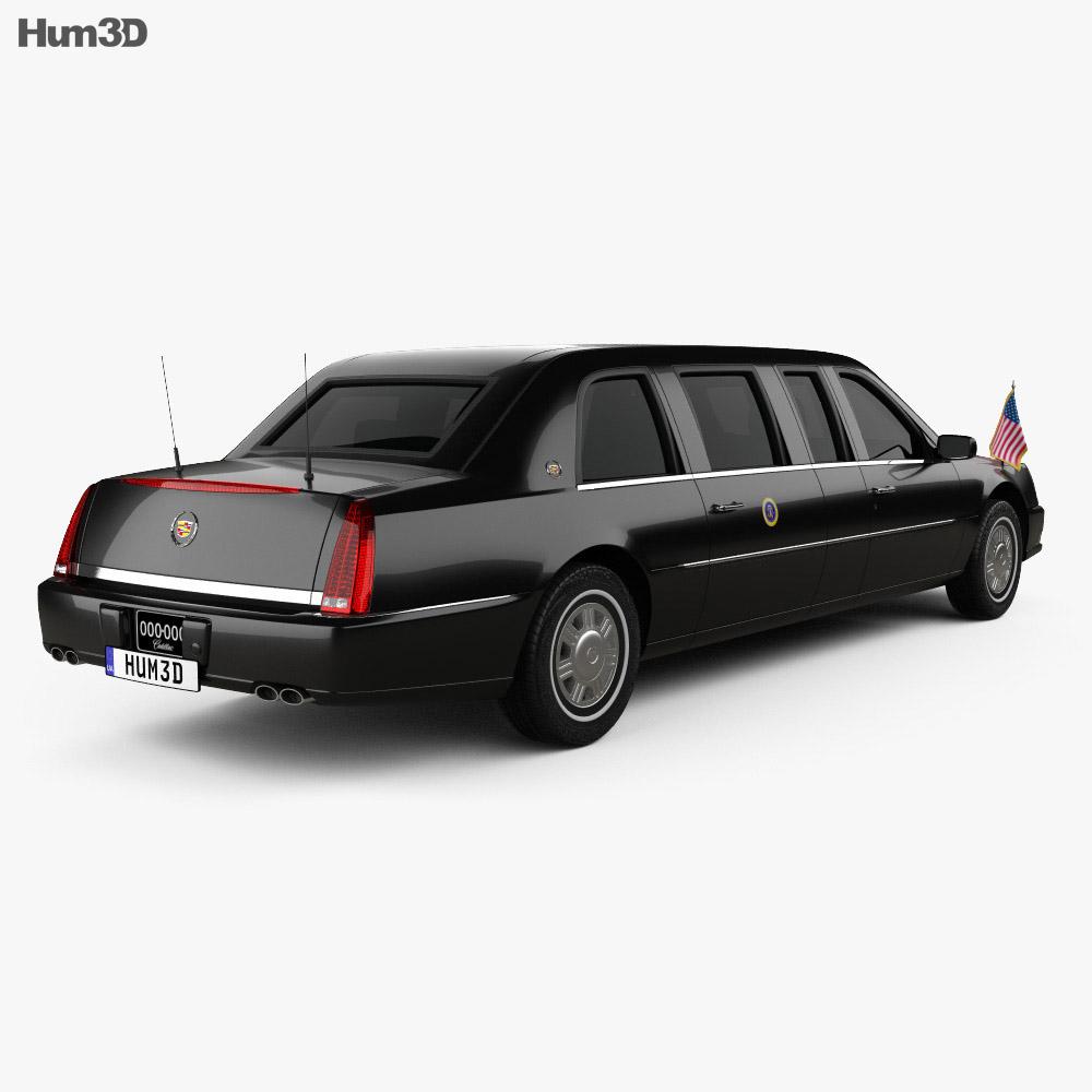 Cadillac DTS Limousine 2005 3d model