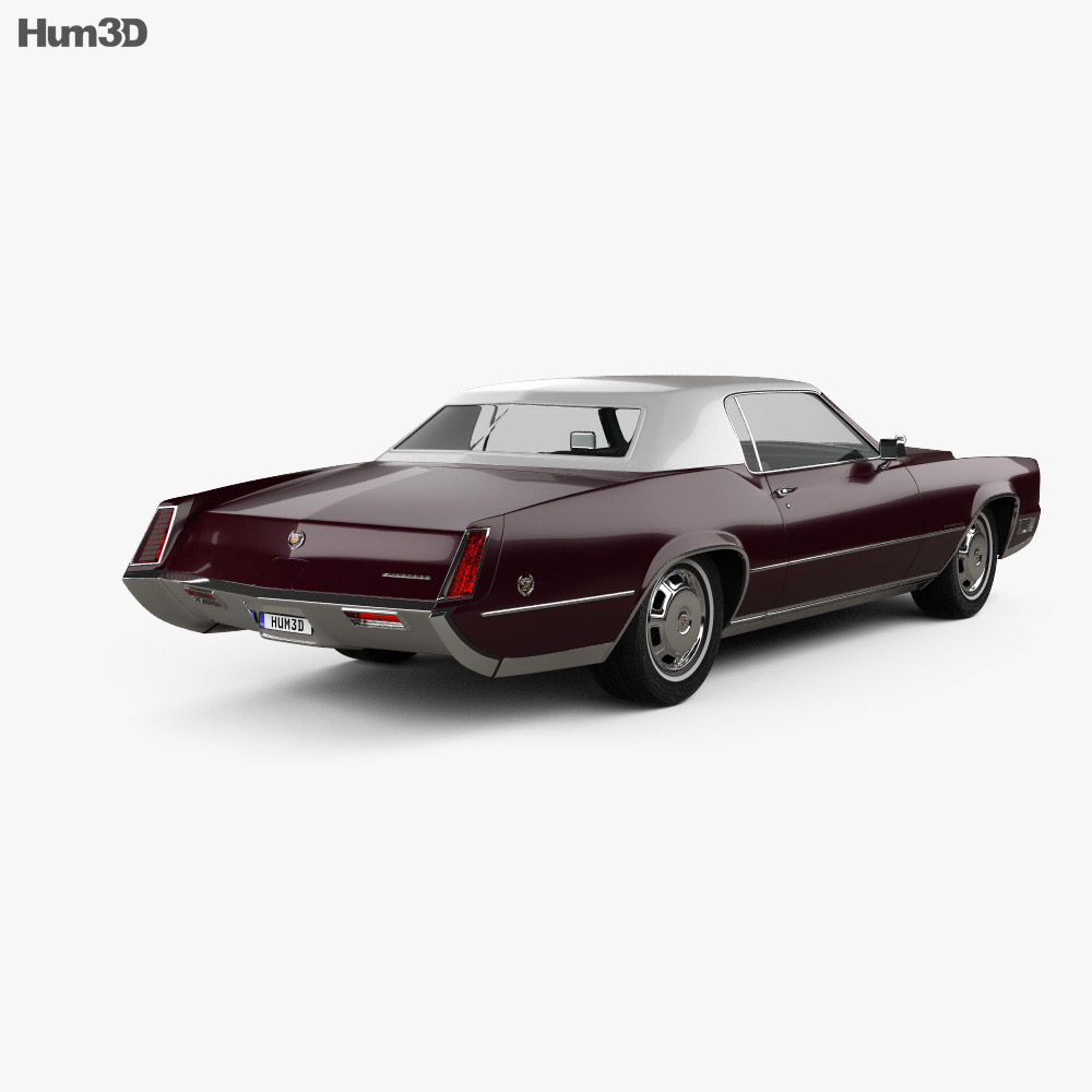 Cadillac Eldorado Fleetwood 1968 3d model