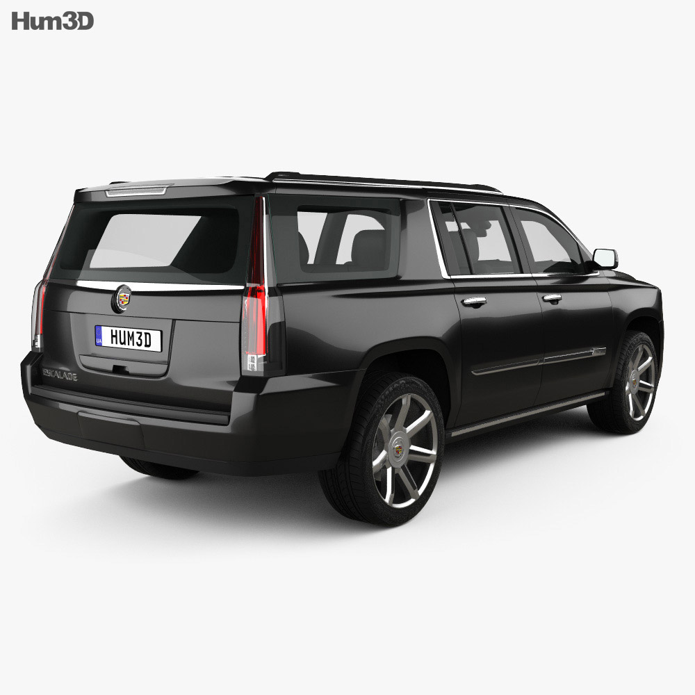 Cadillac Escalade Platinum Price: Cadillac Escalade ESV Platinum 2015 3D Model