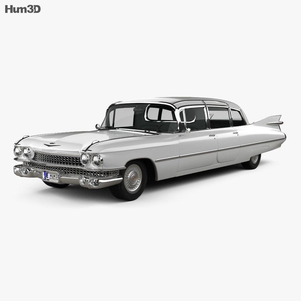 Cadillac Fleetwood 75 Miller-Meteor Hearse 1959 3d model
