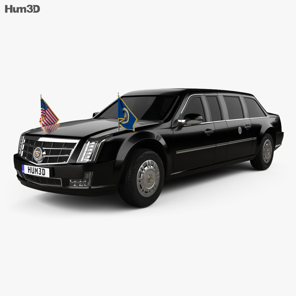 Cadillac Us Presidential State Car 2017 3d Model Vehicles On Hum3d
