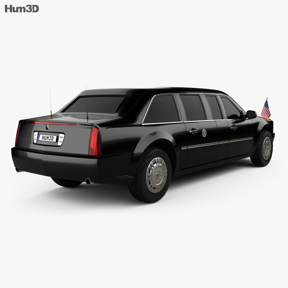 Cadillac US Presidential State Car 2017 3d model back view