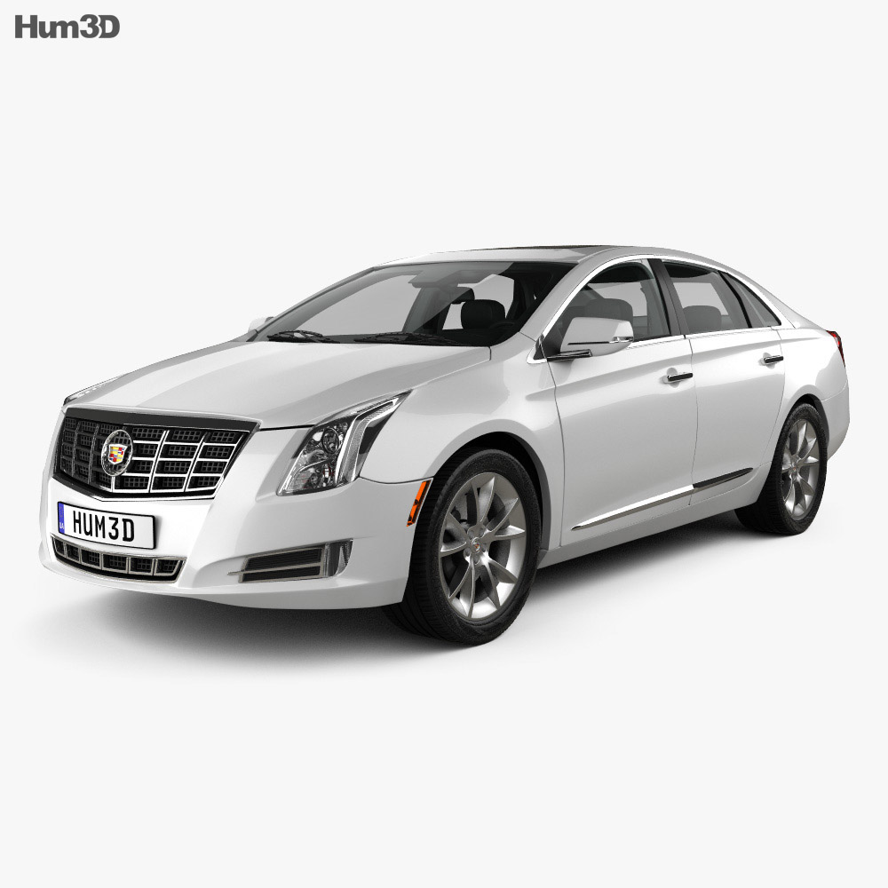 Cadillac XTS with HQ interior 2013 3d model