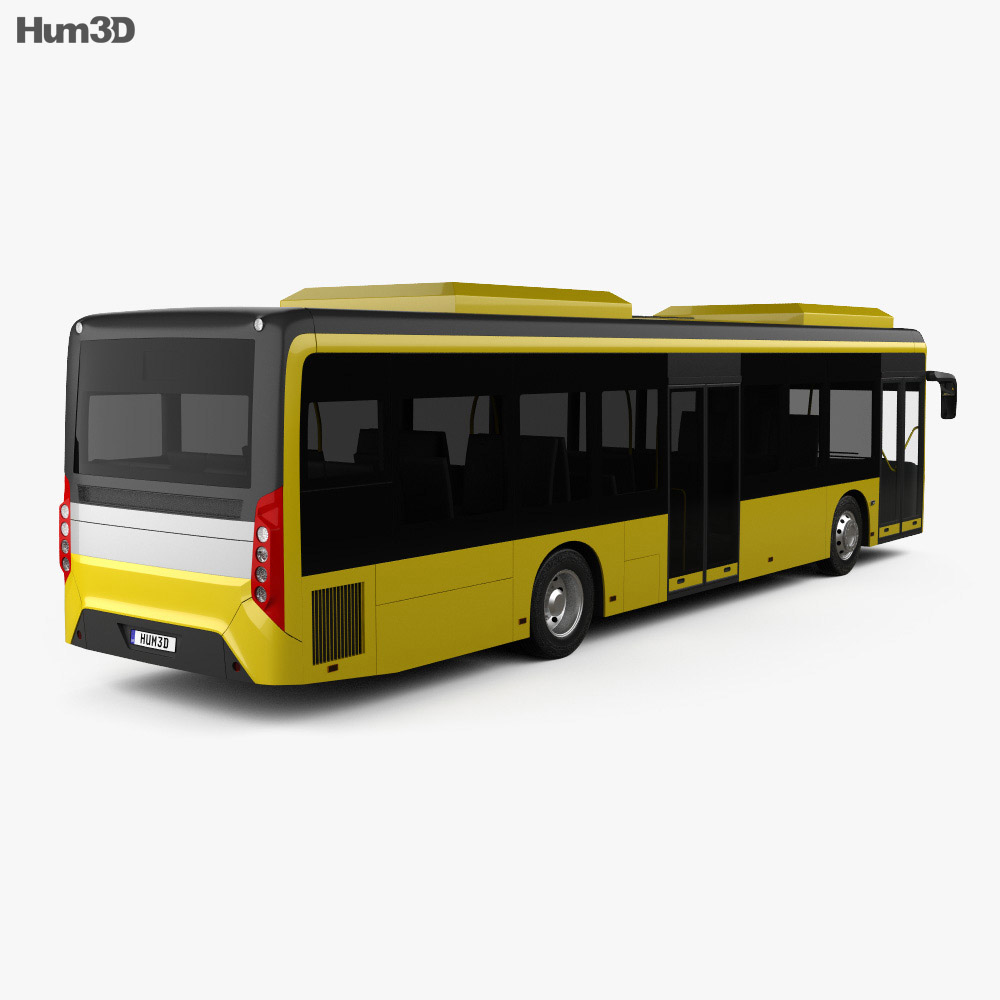 Caetano e-City Gold Bus 2016 3d model