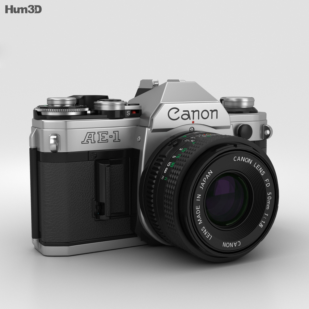 Canon AE-1 3d model