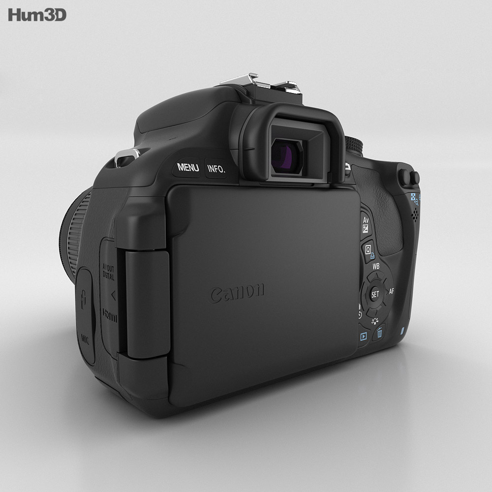 Canon EOS 600D 3d model