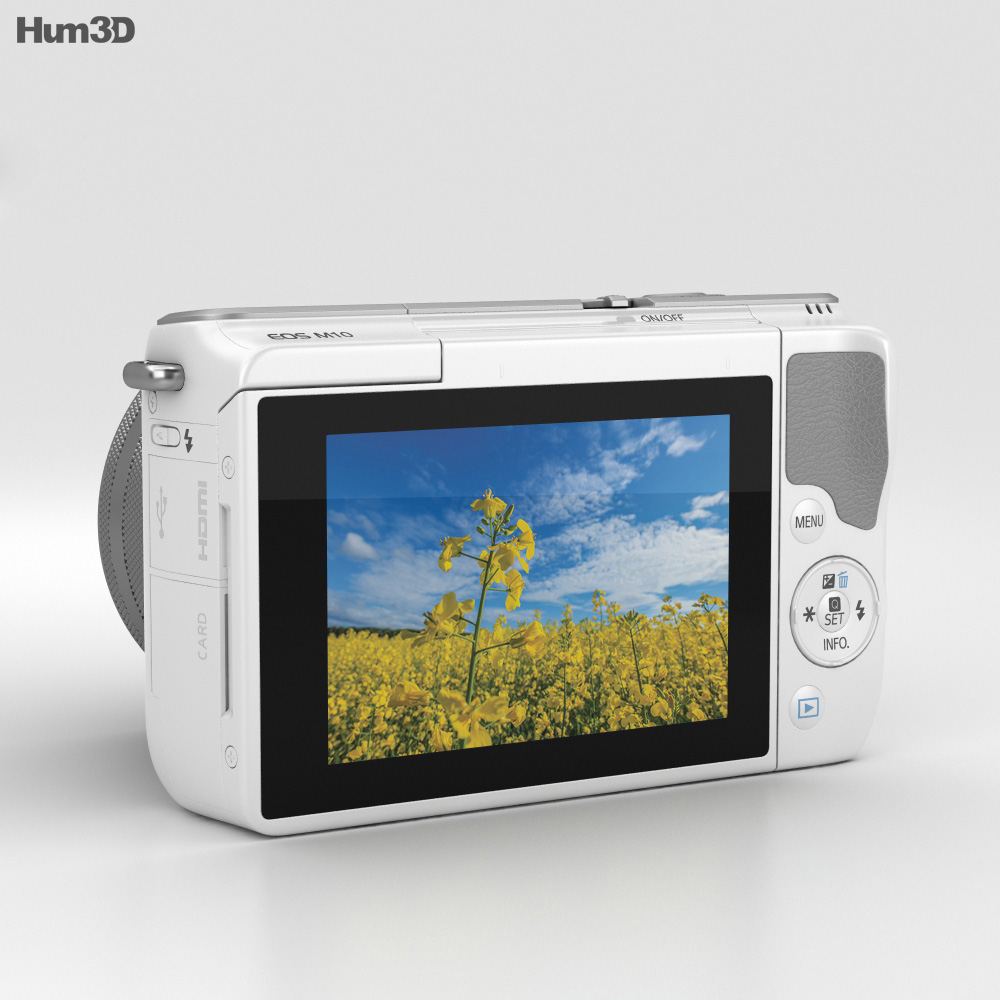 Canon EOS M10 White 3d model