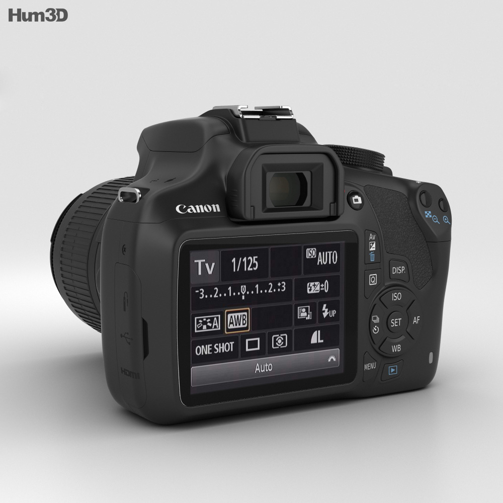 Canon EOS Rebel T5 3d model