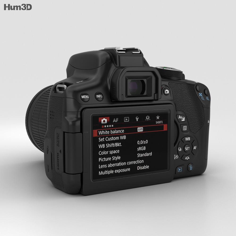 Canon EOS Rebel T6i 3d model