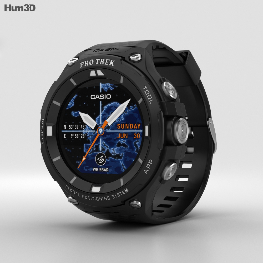 Casio Pro Trek WSD-F20 Black 3d model