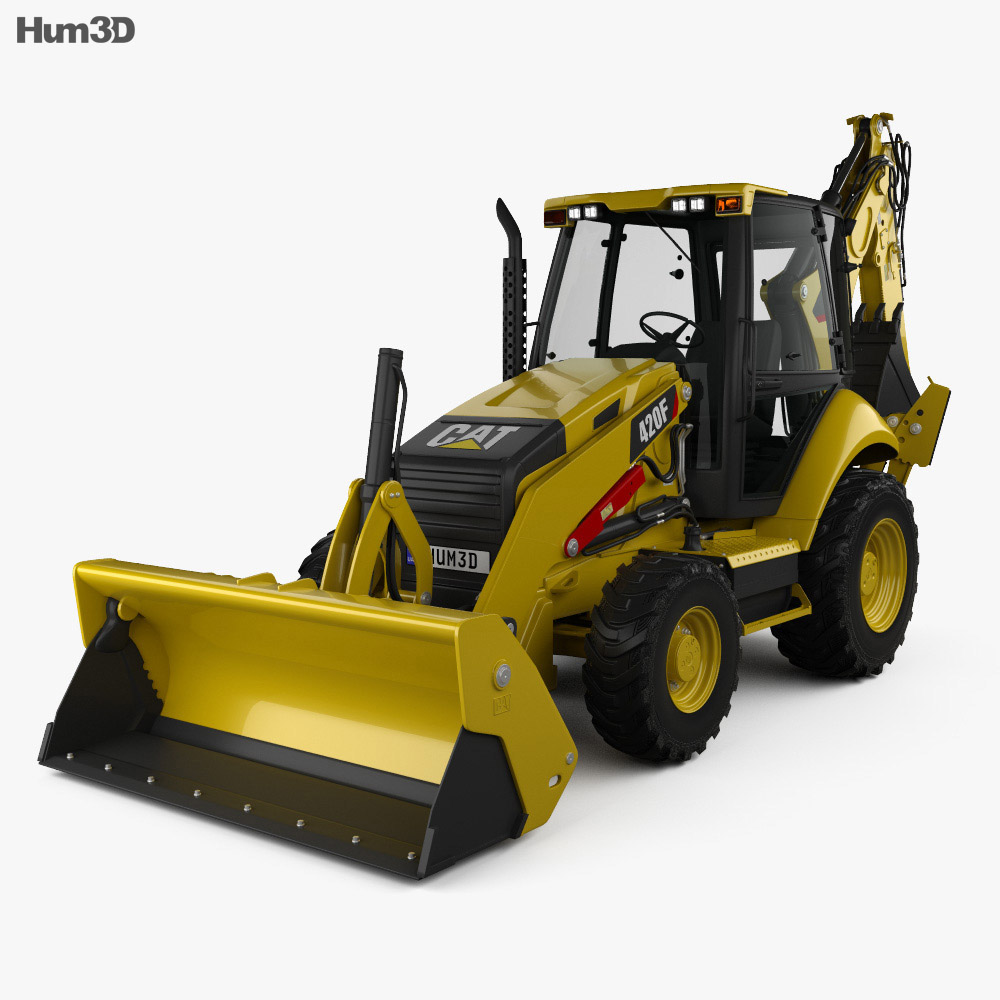 Caterpillar 420F Backhoe Loader 2014 3d model