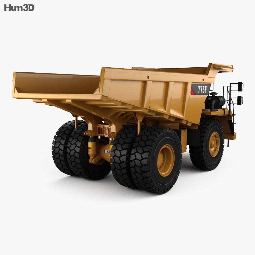 Caterpillar 775F Dump Truck 2018 3d model