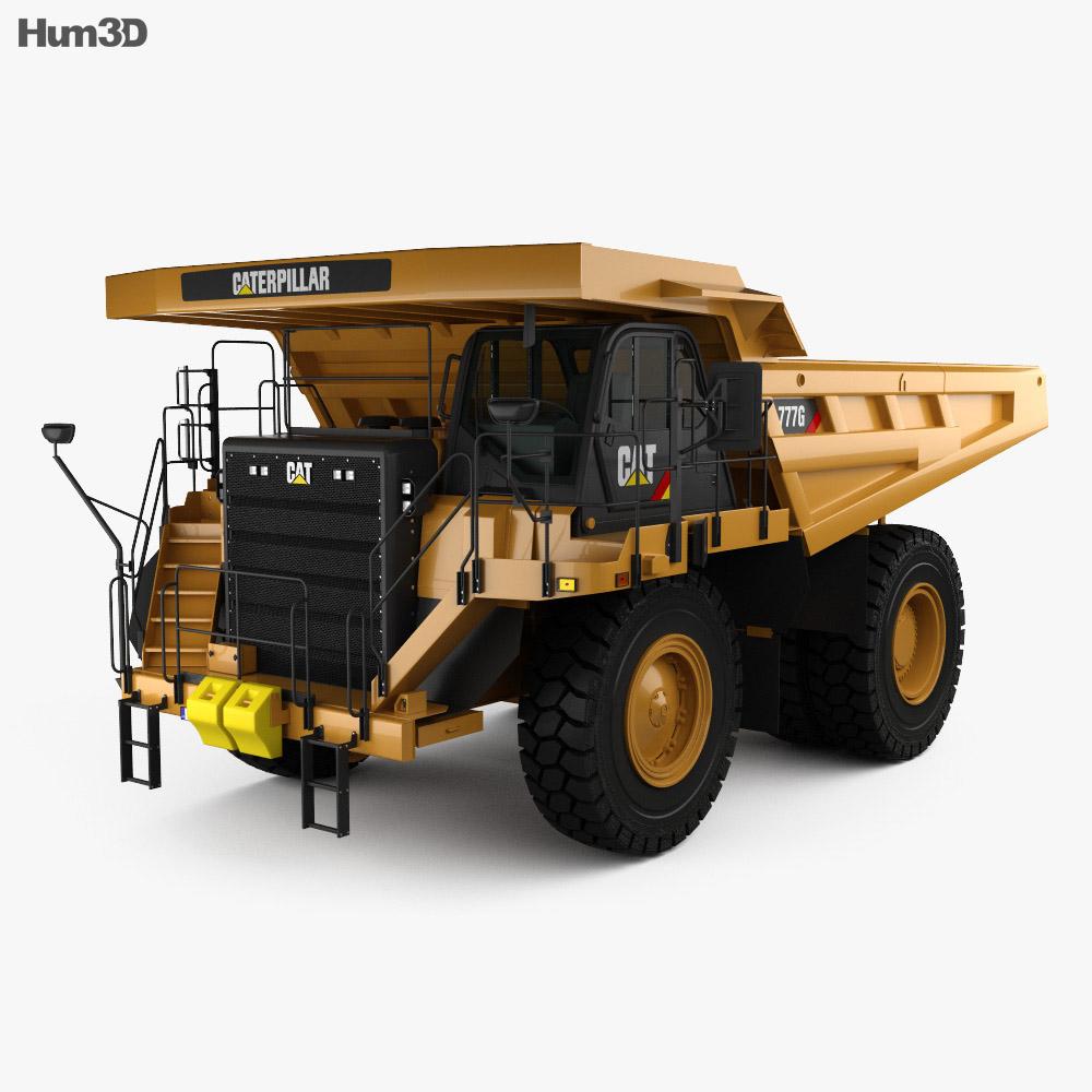 Caterpillar 777G Dump Truck 2012 3d model