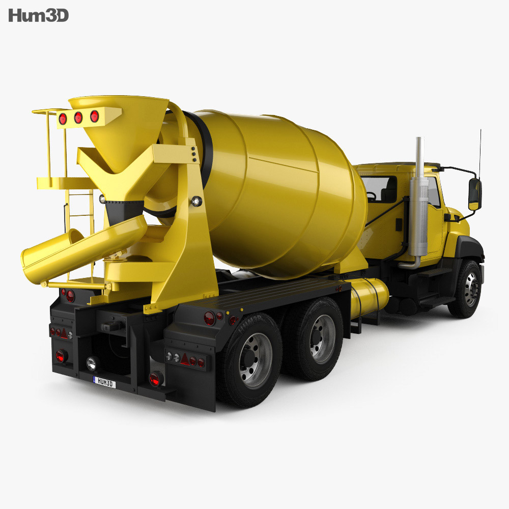 Caterpillar CT660 Mixer Truck 2011 3d model