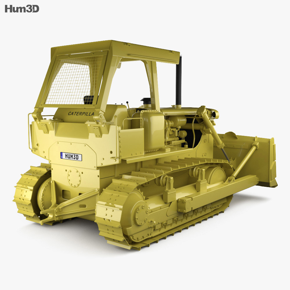 Caterpillar D7G Crawler Dozer 1974 3d model