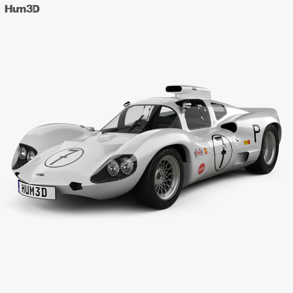 Chaparral 2D Race Car 1966 3d model