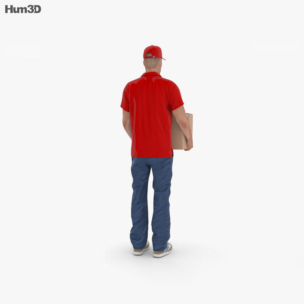 Delivery Man 3d model