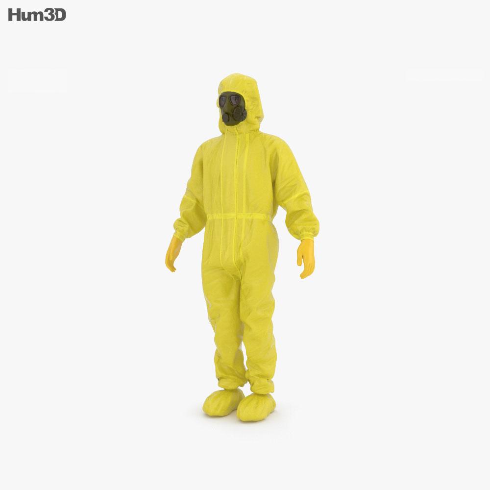 Hazmat Worker 3d model