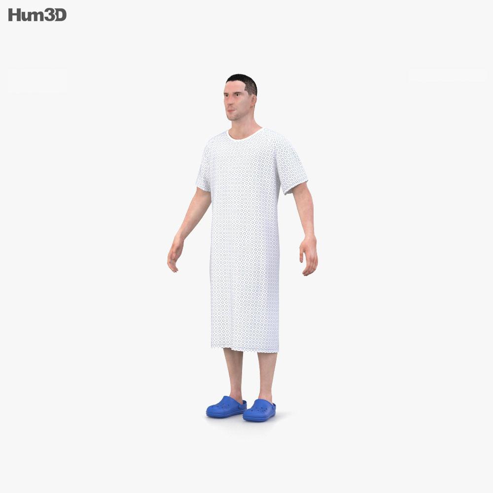 Hospital Patient 3d model