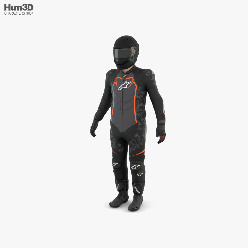 Motorcycle Rider 3d model