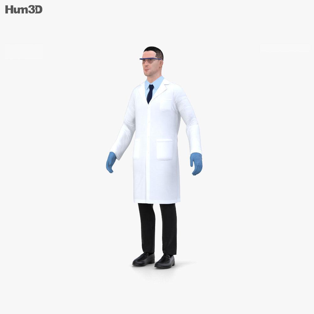 3D model of Scientist