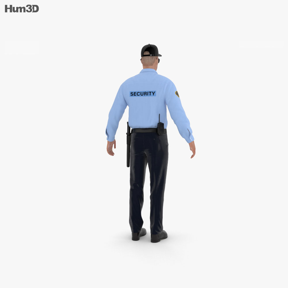 Security Guard 3d model