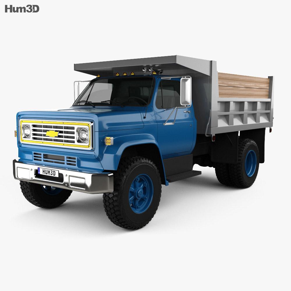 Chevrolet C70 Dump Truck 1979 3d model