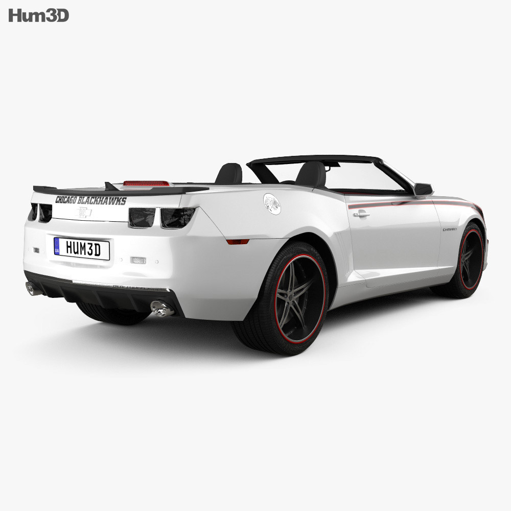 Chevrolet Camaro Black Hawks with HQ Interior 2011 3d model
