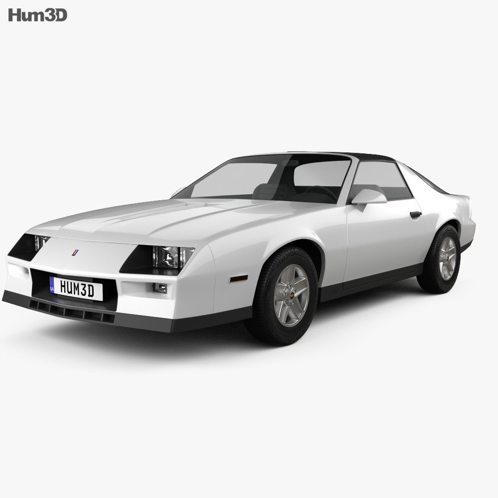 Chevrolet Camaro Z28 coupe 1982 3d model