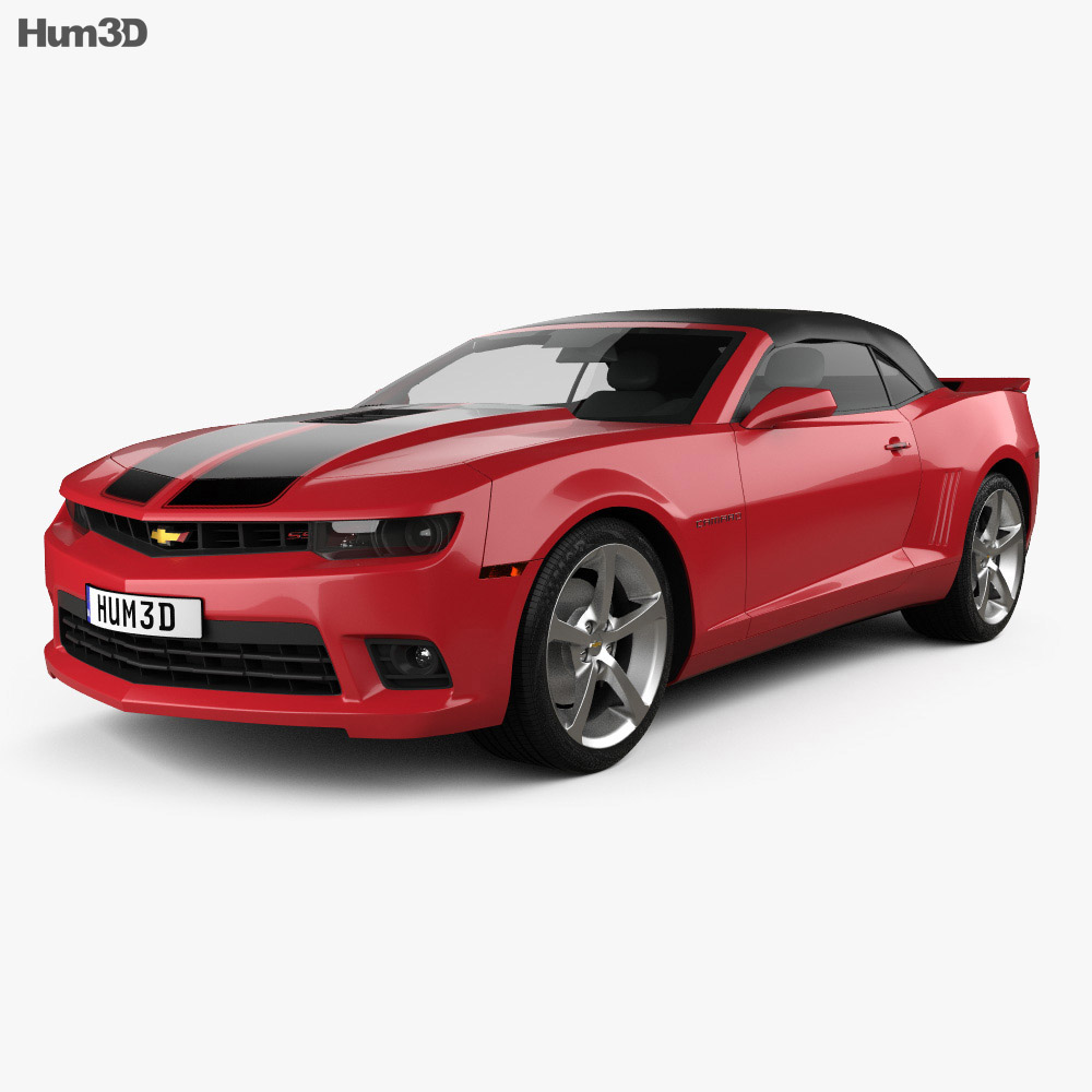 Chevrolet Camaro SS convertible 2014 3d model
