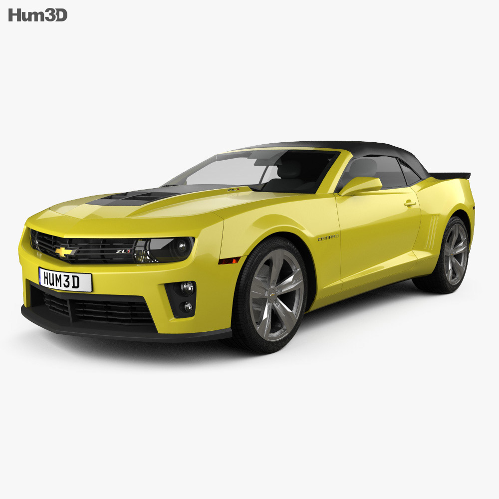Chevrolet Camaro ZL1 convertible 2014 3d model