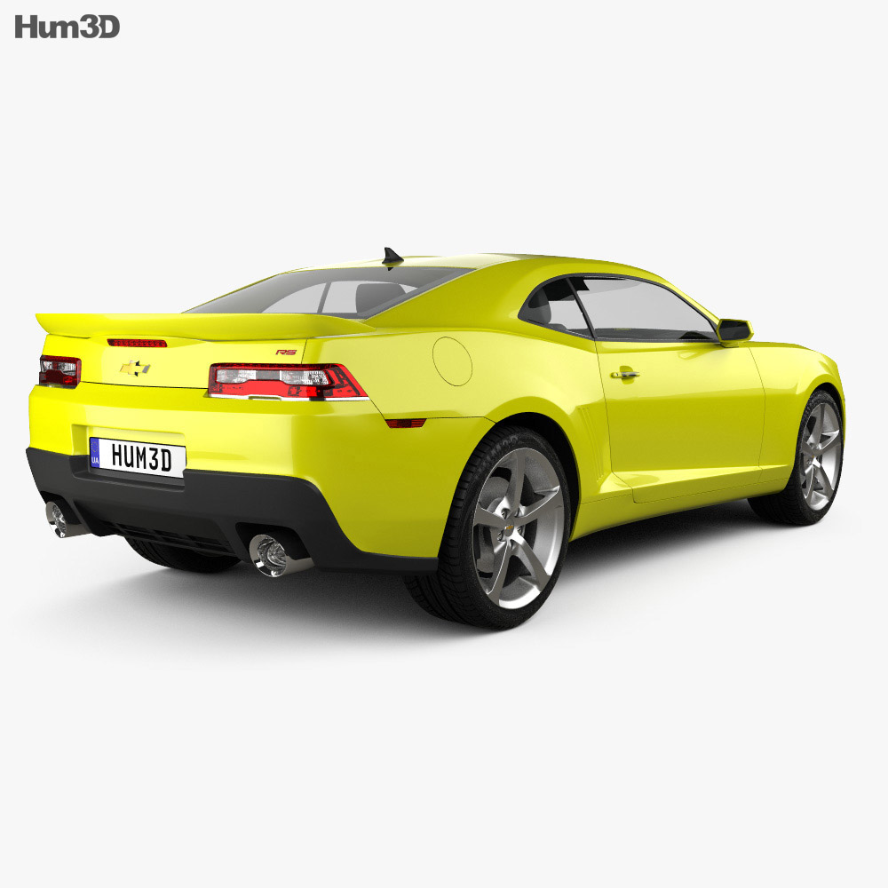 Chevrolet Camaro Rs Coupe 2014 3d Model Humster3d