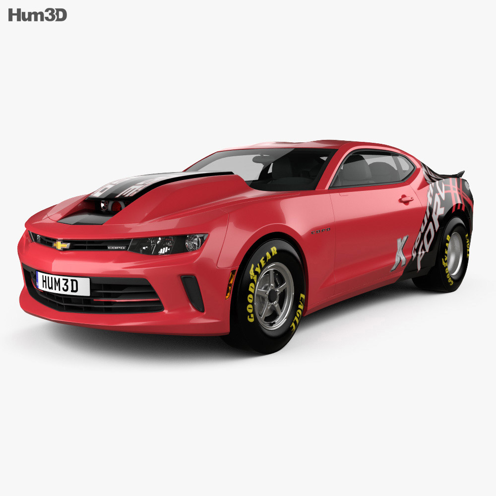 chevrolet camaro copo 2016 3d model humster3d. Cars Review. Best American Auto & Cars Review