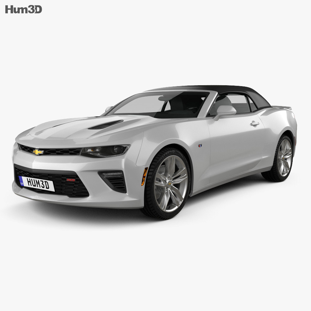chevrolet camaro ss convertible 2016 3d model humster3d. Black Bedroom Furniture Sets. Home Design Ideas