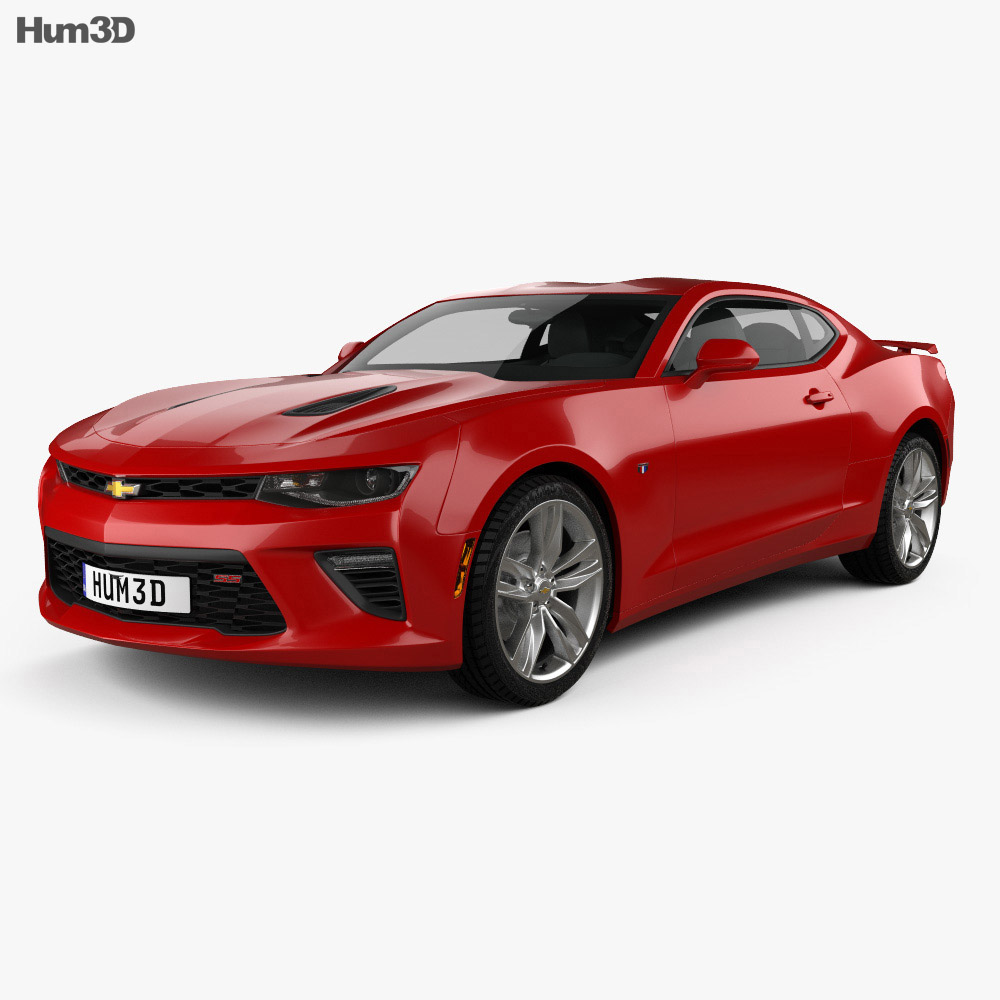 Chevrolet Camaro SS coupe 2016 3d model