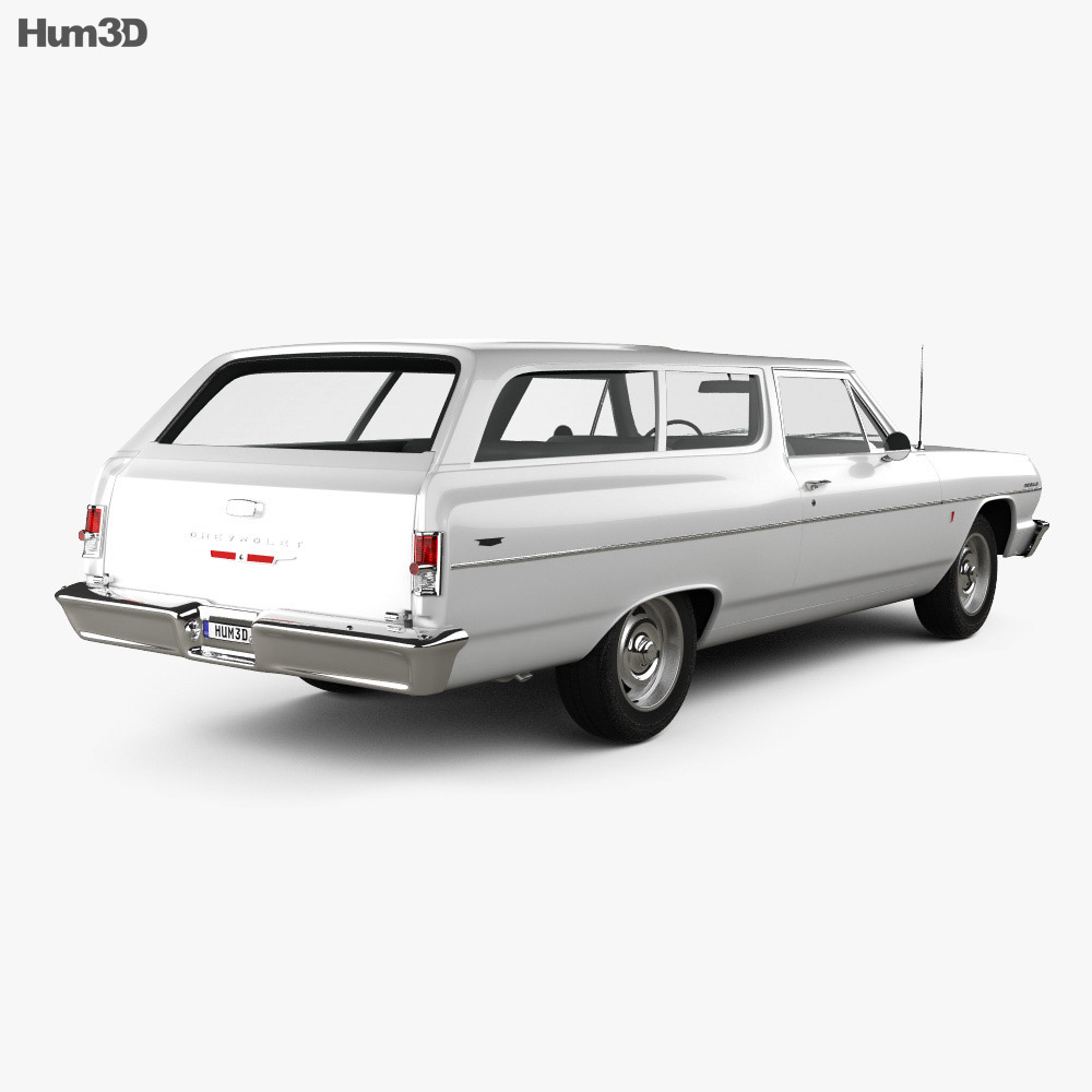 Chevrolet Chevelle (Malibu) 2-door wagon 1964 3d model