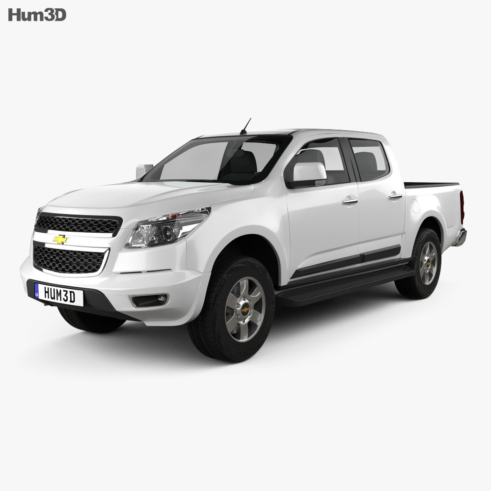 Chevrolet Colorado S-10 Crew Cab 2013 3d model